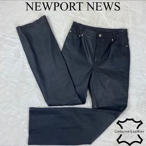 Vintage Genuine Leather Pants Newport News Size 6